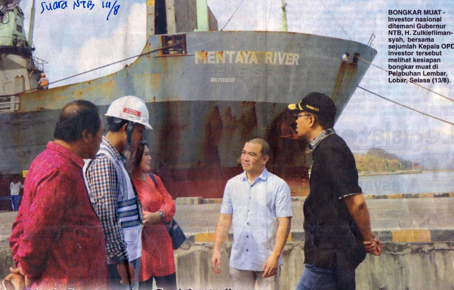 Investor Cek Kesiapan Bongkar Muat Pelabuhan Lembar