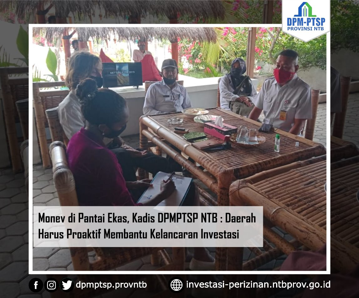 Monev di Pantai Ekas, Kadis DPMPTSP NTB: Kelancaran Investasi Harus Didukung Penuh Pemerintah Daerah