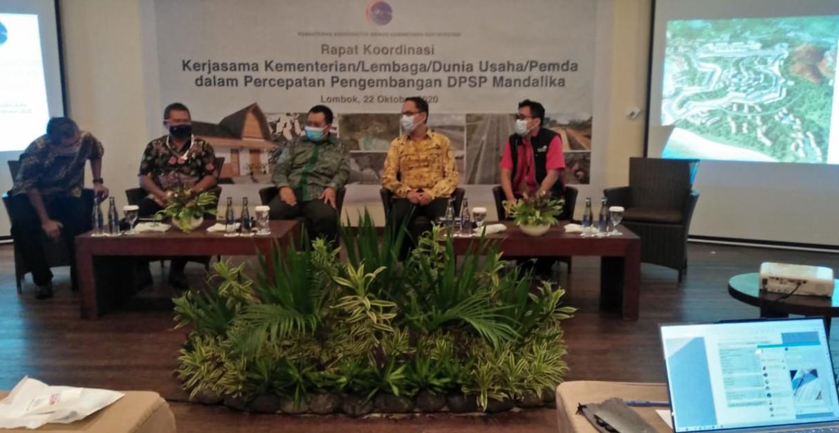 Rapat Koordinasi Kerjasama Kementrian/Lembaga/Dunia Usaha/Pemda dalam Percepatan Pengembangan DPSP Mandalika