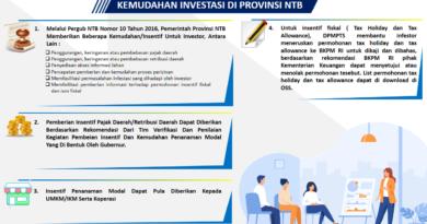 Kemudan Investasi di NTB