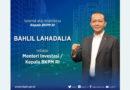 Selamat Atas Dilantiknya Kepala BKPM RI  Bapak Bahlil Lahadalia