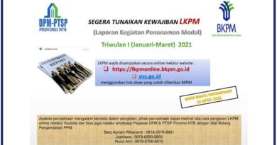 Segera Tunaikan Laporan LKPM (Laporan Kegiatan Penanaman Modal) Triwulan I